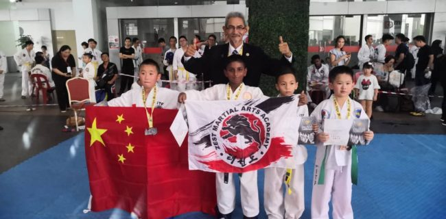 SJIIM's Jayanesh 'kicks' his way to Taekwon-do Gold!