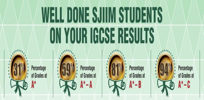 SJIIM records fantastic IGCSE results again