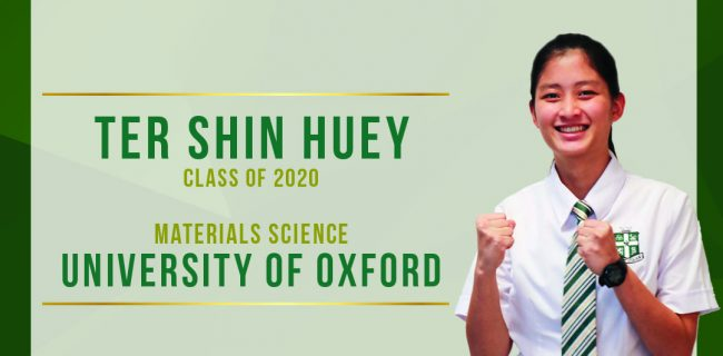 CONGRATULATIONS TO SHIN HUEY ON GAINING A PLACE AT UNIVERSITY OF OXFORD!